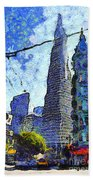 Van Gogh Sips Absinthe And Takes In The Views From North Beach In San Francisco . 7d7431 Beach Towel
