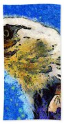 Van Gogh.s American Eagle Under A Starry Night . 40d6715 Beach Towel