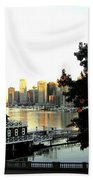 Vancouver At Sundown Beach Towel by Will Borden