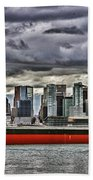 Vancouver Freighter Hdr Beach Towel