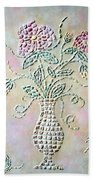 Vase With Flowers Beach Towel