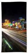 Vegas Light Trails Beach Towel