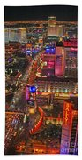 Vegas Strip Beach Towel