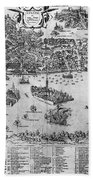 Venice: Map, C1566 Beach Towel