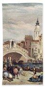 Venice: Rialto, 1833 Beach Towel