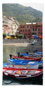 Vernazza's Harbor Beach Towel