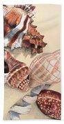 Vertical Conch Shells Beach Towel