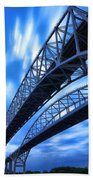 Very Blue Water Bridge  Beach Towel