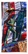 Veteran Warrior Beach Towel