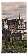 Vianden Castle - Luxembourg Beach Towel by Juergen Weiss