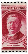 Victor Herbert Postage Stamp Beach Towel