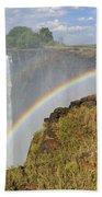 Victoria Falls Beach Towel by Tony Beck