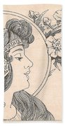 Victorian Lady - 3 Beach Towel