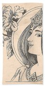 Victorian Lady - 4 Beach Towel