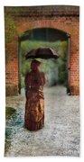 Victorian Lady By Brick Archway Beach Towel