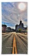 View Down Broadway Into Downtown Buffalo Ny Vert Beach Towel