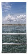 View From Across The Bay Beach Towel