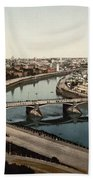 view from St Saviours - Moscow - Russia Beach Towel