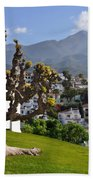 View From The Parador Nerja Beach Towel