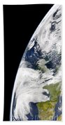 View Of Earth From Space Showing Beach Towel by Stocktrek Images