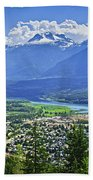 View Of Revelstoke In British Columbia Beach Towel