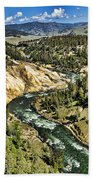 View Of The River Beach Towel