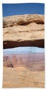 View Through Mesa Arch Beach Towel