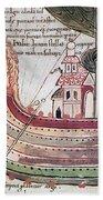 Viking Ship - 10th Century Beach Towel