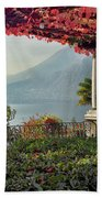 Villa Cipressi Pergola On Lake Como I Beach Towel