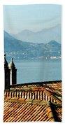 Villa Monastero Rooftop And Lake Como Beach Towel