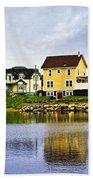 Village In Newfoundland Beach Towel by Elena Elisseeva