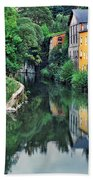 Village Reflections In Luxembourg II Beach Towel