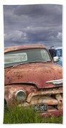 Vintage Auto Junk Yard Beach Towel