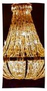 Vintage Ballroom Chandalier Fractal Beach Towel