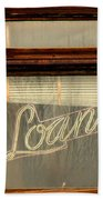 Vintage Bank Sign Beach Towel