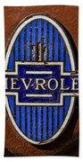 Vintage Chevrolet Emblem Beach Towel