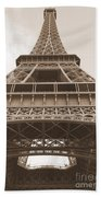 Vintage Eiffel Tower Beach Towel
