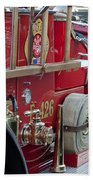 Vintage Fire Truck 2 Beach Towel