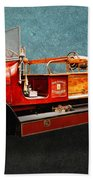 Vintage Fire Truck Beach Towel