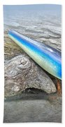 Vintage Fishing Lure - Floyd Roman Nike Blue And White Beach Towel
