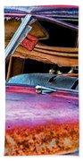 Vintage Frazer Front Window Auto Wreck Beach Towel