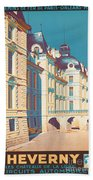 Vintage French Travel Poster Beach Towel