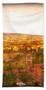 Vintage  Landscape Florence Italy Beach Towel