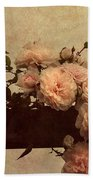 Vintage Roses Beach Towel