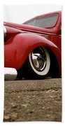 Vintage Style Hot Rod Truck Beach Towel