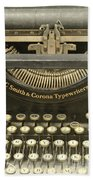Vintage Typewriter Beach Towel