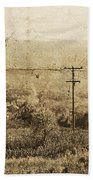Vintage View Of Ontario Fields Beach Towel