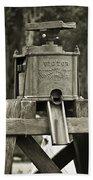 Vintage Water Pump Beach Towel