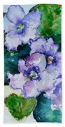 Violet Cluster Beach Towel