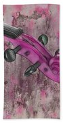 Violinelle - Pink 03b2 Beach Towel by Variance Collections